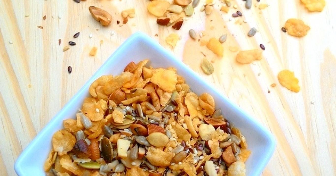 Granola salgada (tempero seco para saladas)