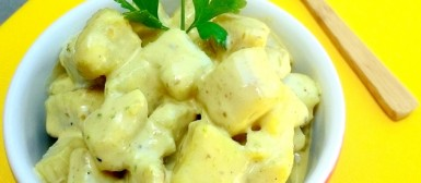 """""""Maionese"""" de batata doce (calorias reduzidas)"""