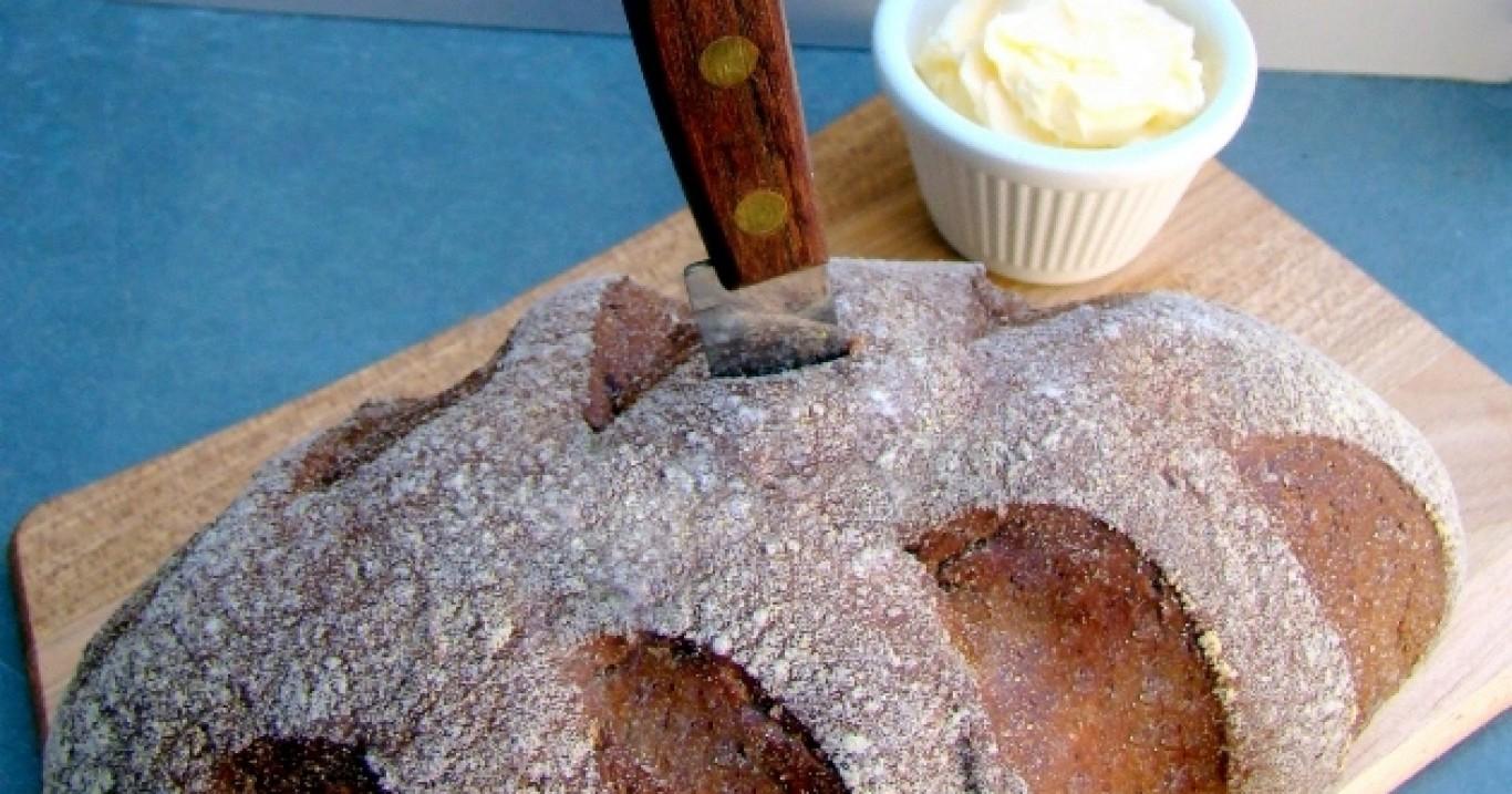 Pão australiano (Aussie Bread) com manteiga cremosa do Outback