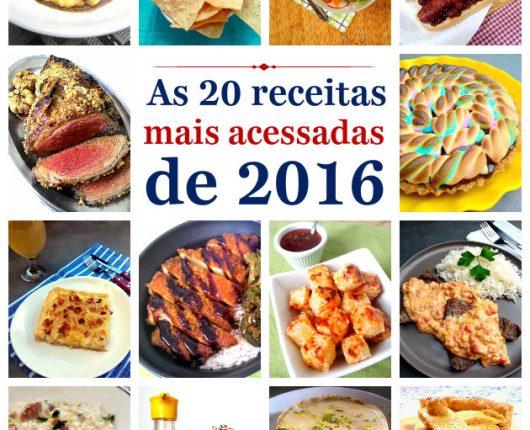 Top 20: as receitas mais acessadas em 2016