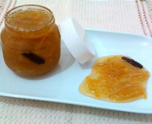 Compotinha de casca de laranja e/ou de limão siciliano