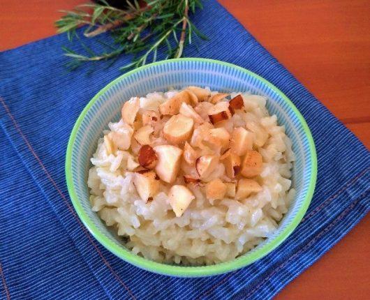 Arroz de coco com castanhas