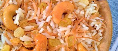 Arroz marroquino (com macarrãozinho, passas e castanhas)