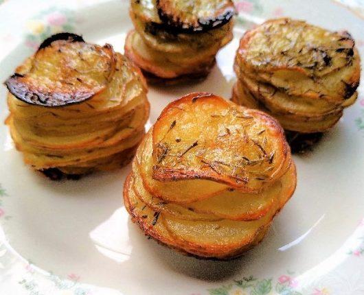 Batatas folhadas