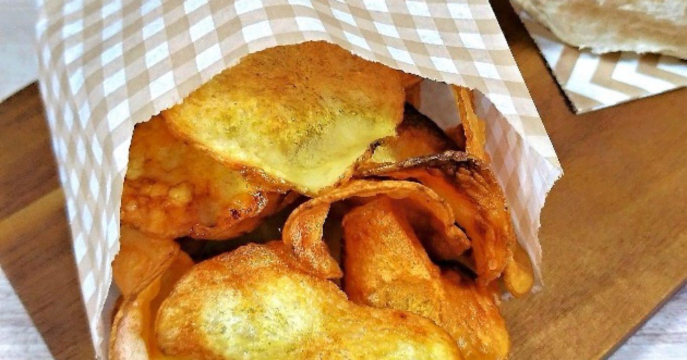 Batata chips na air fyer ou no forno