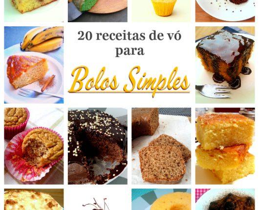 20 receitas de vó para bolos simples