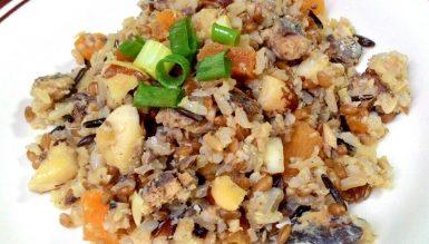 7 cereais com sardinha ao limão, damascos e castanhas do Pará