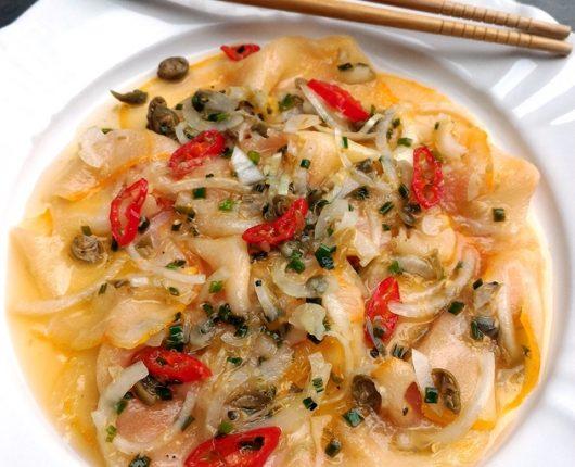 Ceviche de peixe defumado