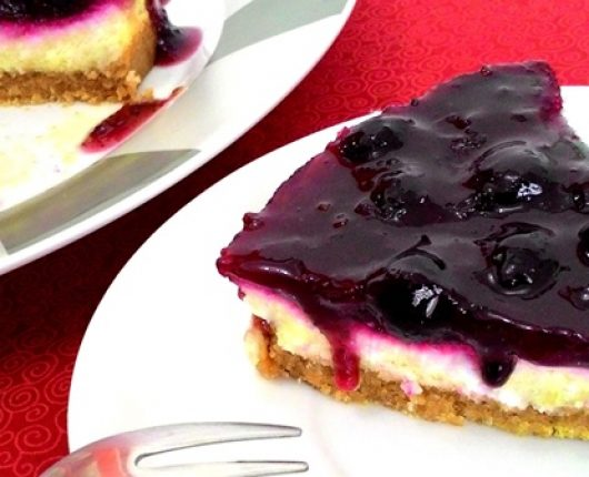 Cheesecake de mirtilos (blueberries)