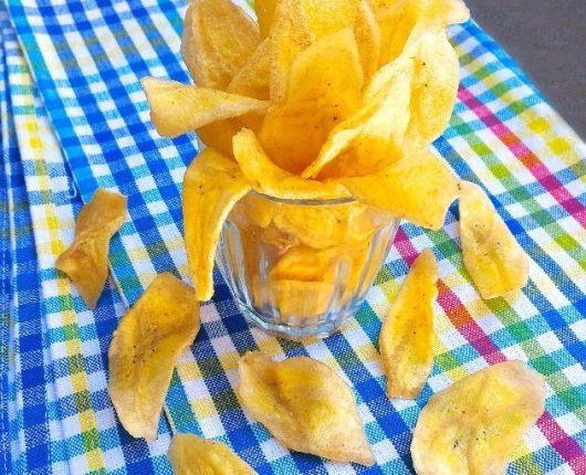 Chips de banana crocantes