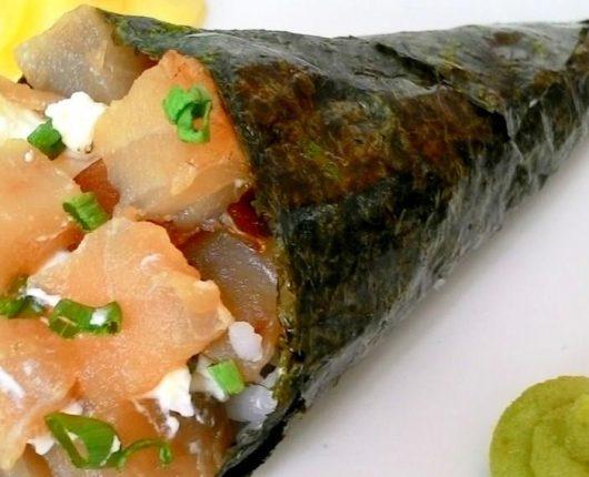 Como fazer temaki (cone de sushi)