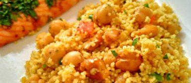 Cuscuz marroquino com grão de bico