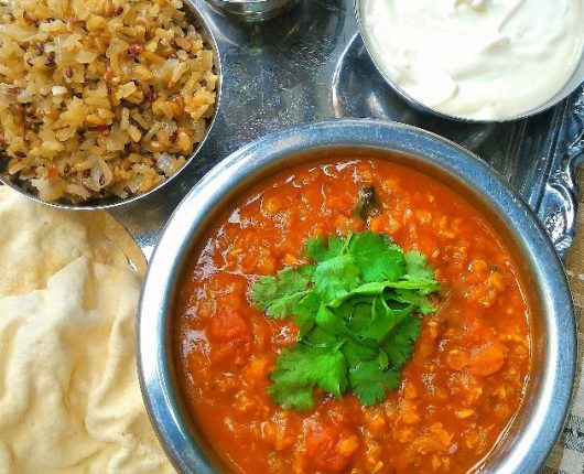 Lentilhas à moda indiana (Masoor dahl)