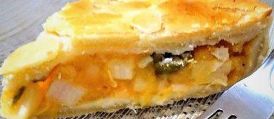 Torta ou empadão de palmito