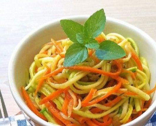 Como fazer espaguete de legumes