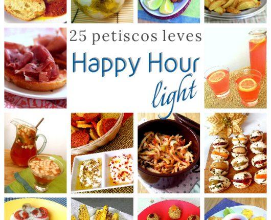 25 receitas de petiscos light para um happy hour leve