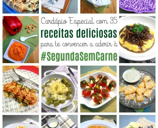 35 receitas deliciosas para a #SegundaSemCarne
