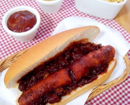 Hot dog mais saudável sem salsicha (vegano ou vegetariano, dependendo dos complementos)