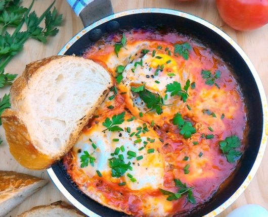 Shakshuka, Eggs in purgatory, Huevos rancheros ou ovos no molho de tomate
