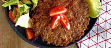 Kibe de carne com quinoa no forno