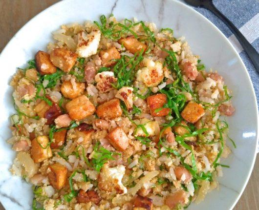 Mexidão de arroz e feijão com legumes