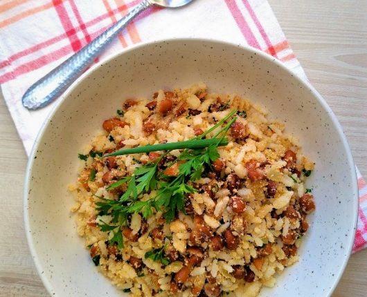 Mexidinho de arroz com feijão