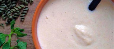 Molho branco de palmito e castanhas (sem glúten, sem lactose, vegano)