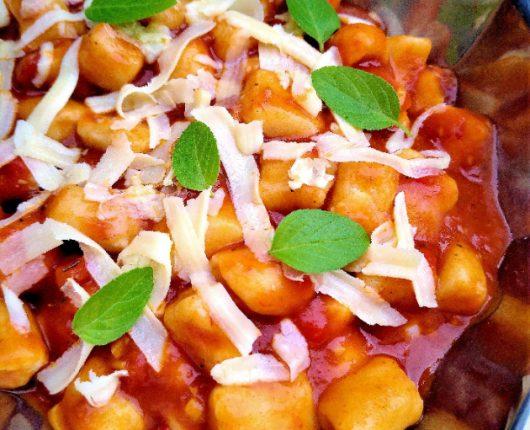 Nhoque cozido da Vó Nair (sem batata)