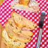 Pão das 10 dobras com azeitonas (fermento biológico, sem sova)