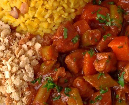Picadinho rápido de carne com legumes