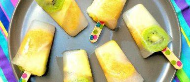 Picolé de frutas com água de coco