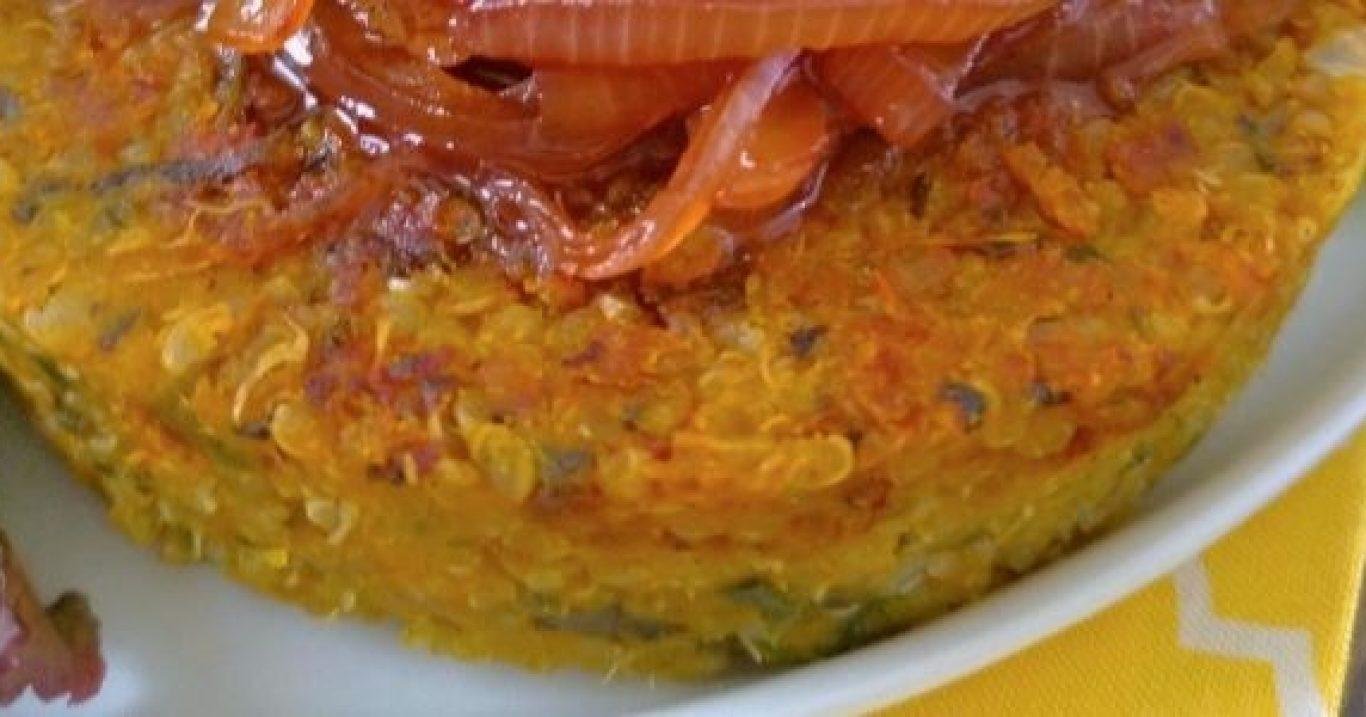 Quibe de abóbora com quinoa no forno