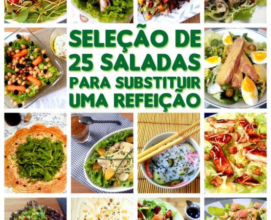 25+ receitas de saladas e complementos para substituir uma refeição