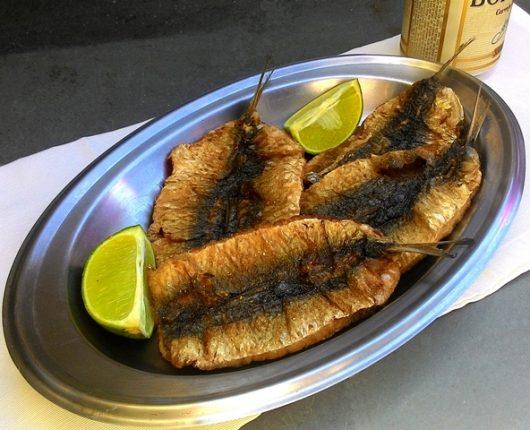 Sardinhas frescas fritas