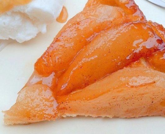 Tarte tatin de peras (torta invertida de peras)