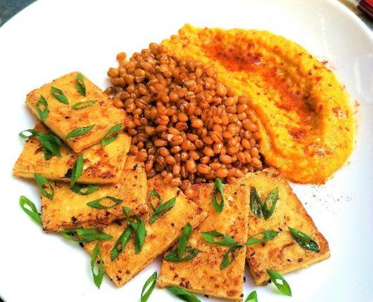 Tofu grelhado com gengibre