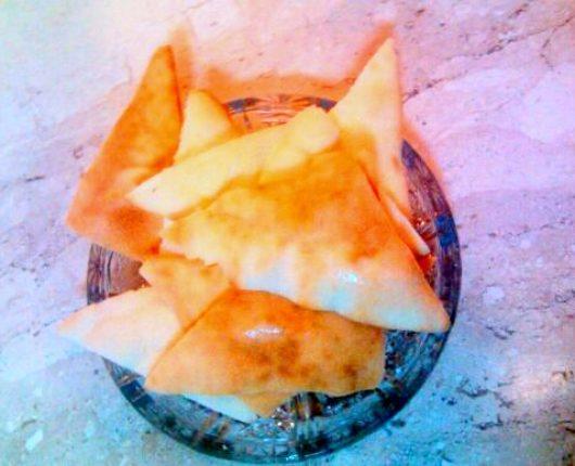Torradinhas de pão sírio