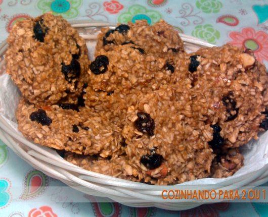 Cookies super saudáveis (sem açúcar, sem gordura, sem lactose, sem glúten, sem ovos)