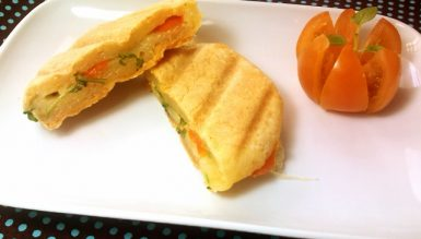 Panini caprese light (sanduíche de pão de queijo light)