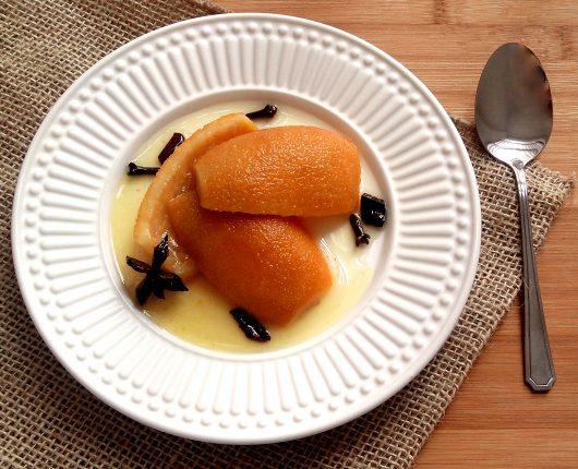 Doce de casca de laranja em calda