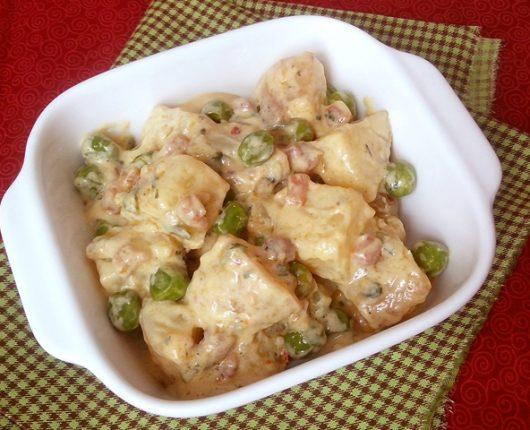 Salada alemã de batatas com maionese de iogurte (Kartoffelsalat mit Joghurt Mayonnaise)