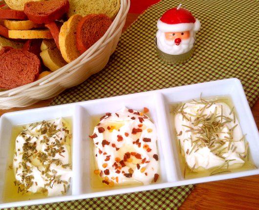 Creme de queijo temperado