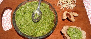 Pesto de rúcula com castanha do Pará