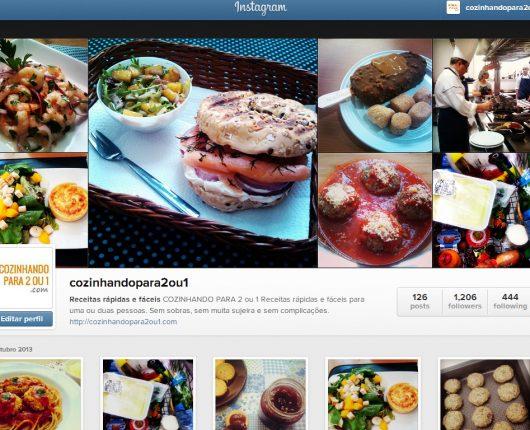 Cozinhando para 2 ou 1 nas redes sociais