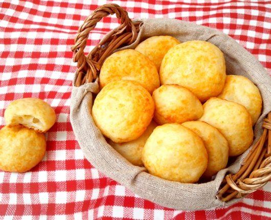Pão de queijo light (sem ovo, sem óleo, sem glúten)