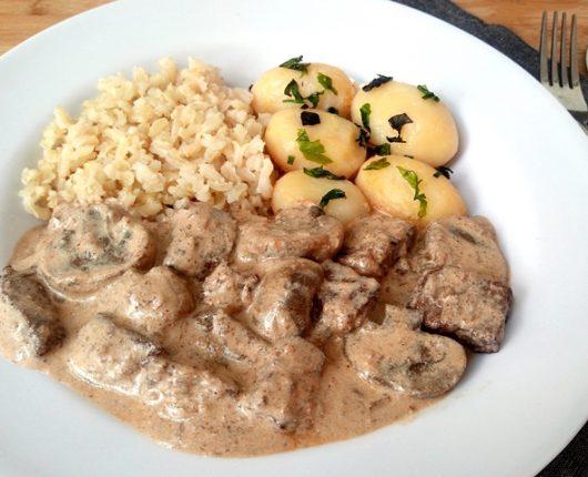 Strogonoff especial de carne