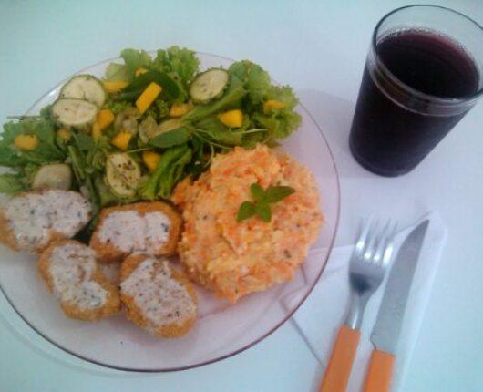 Purê de cenoura e batata