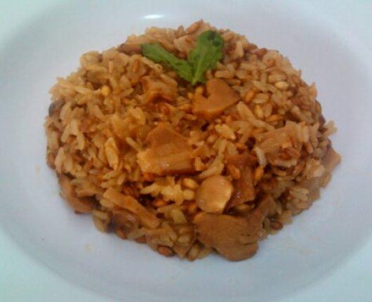 Risoto 7 cereais com funghi secchi (cogumelos)