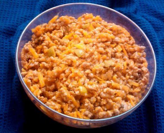 Carne moída com cenoura