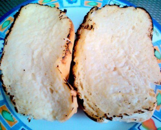 Pão no garfo